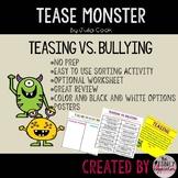Tease Monster  Story Extension Activity Worksheets Center