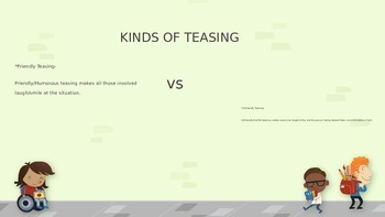 Teasing Power Point- Friendly vs. Unfriendly Teasing