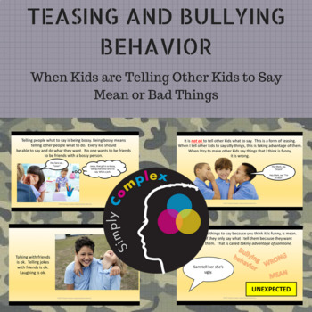Teasing and Bullying Behavior; Getting Other Kids to Say or do Mean Things
