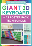 Tech Bundle - 3 Giant Keyboards + 3 Posters (for PC + Chro
