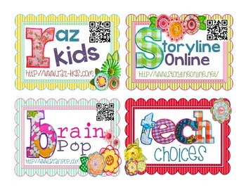 Tech Choices: Task Cards w/ QR Codes!