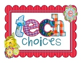 Tech Choices: Task Cards w/ QR Codes!