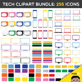 Tech Clip Art BUNDLE: 255 Icons