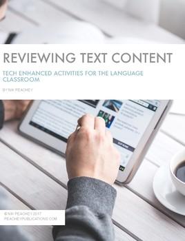 Tech Enhanced Activities - Reviewing Text Content