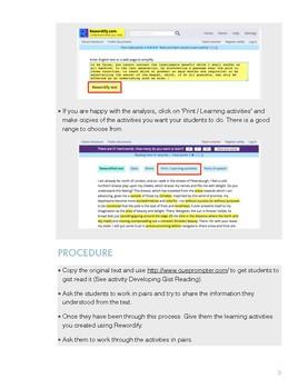 Tech Enhanced Activities - Simplifying Text