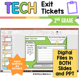 Tech Exit Tickets for 2nd Grade