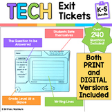 Tech Exit Tickets for Grades K-5 BUNDLE