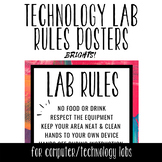 Tech Lab Rules Posters - BRIGHTS!