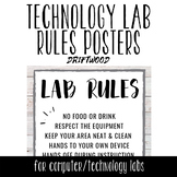 Tech Lab Rules Posters - Driftwood