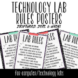 Tech Lab Rules Posters - Driftwood, Dots, & Washi