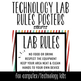 Tech Lab Rules Posters - Stripes