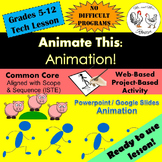 Tech Lesson - Animate This! - Google Slides/PowerPoint {Technology Lesson Plan}