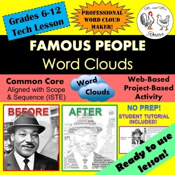 Tech Lesson - Famous People Word Clouds {Technology Lesson Plan}