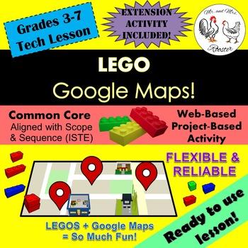 Tech Lesson - LEGO Google Maps {Technology Lesson Plan}