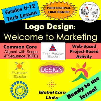 Tech Lesson - Logo Design: Welcome to Marketing {Technology Lesson Plan}