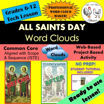 Tech Lesson - All Saints Day Word Clouds {Technology Lesson Plan}