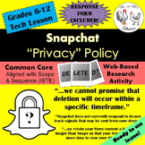 "Tech Lesson - Snapchat ""Privacy"" Policy {Technology Lesson Plan}"