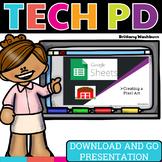 Tech PD Presentation - Google Sheets