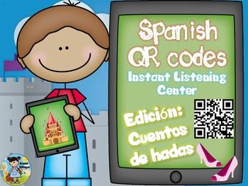 Tech QRcodesinSpanishpluscomprehensionquestionsCuentosdehadas