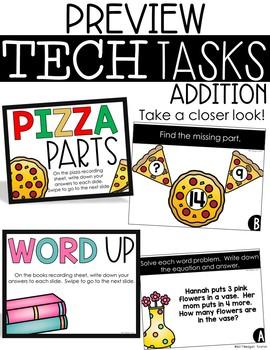 Tech Tasks Addition First Grade