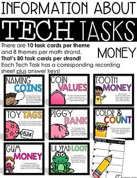 Tech Tasks Money First Grade