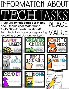 Tech Tasks Place Value First Grade
