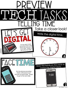 Tech Tasks Telling Time First Grade