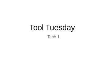 Tech Theatre Bell Work Tool's Tuesday