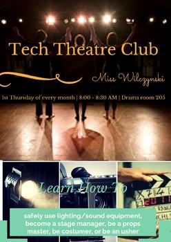 Tech Theatre Club Promo Posters
