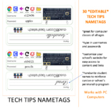 Tech Tips Nametags