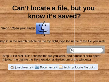 Tech Tips for Mac - Locating a File