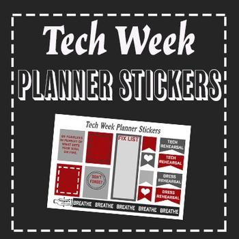 Tech Week Lover Planner Stickers
