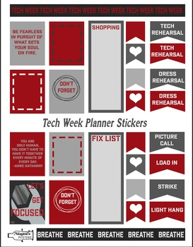 Tech Week Lover Planner Stickers
