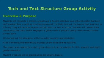 Tech and Text Structure: A Jigsaw Cooperative Learning Activity with Google