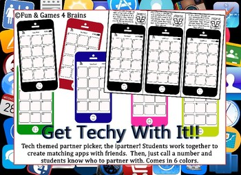 Tech themed partner picker, the ipartner! Makes partners quick and easy!!