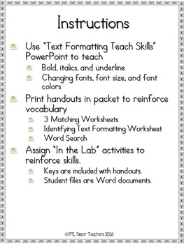 TechSavvy Kids-Text Formatting with Word