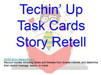 Techin' Up Task Cards - 2nd Grade - Differentiation and Technology