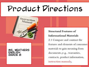 Technical Docs. PRODUCT DIRECTIONS AND WARRANTIES
