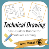 Technical Drawing Skill-Builders for Virtual Remote Distance Learning
