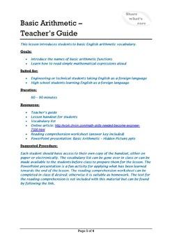Technical English - Basic Arithmetic