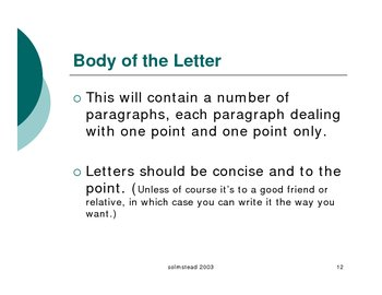 Technical Layout of a Letter