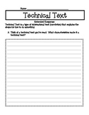 Technical Text Extended Response for ELA 3rd, 4th, & 5th