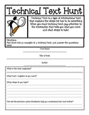 Technical Text Organizer for 3rd, 4th, and 5th Grades