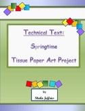 Technical Text:  Springtime Tissue Paper Art Project