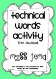 Technical Word Activity