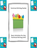 Technical Writing Packet: Basic Activities For Any Technic