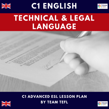Technical and Legal Language C1 Advanced Lesson Plan For ESL