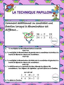 Technique papillon- Opérations sur les fractions