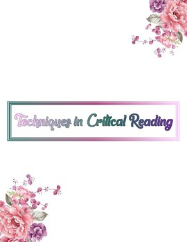 Techniques for Critical Reading