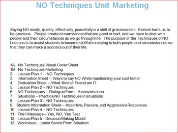 Techniques of NO Unit -- All Lessons Bundle